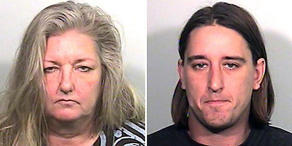 Carol Stedronsky, left, and her son Brian Stedronsky are charged with drug-induced homicide.  Lake County Sheriff's Department photo