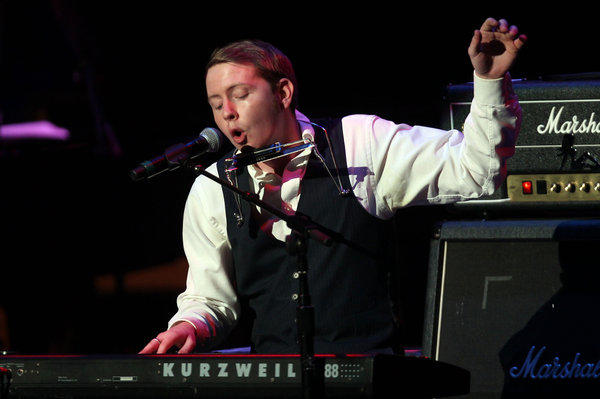 "Oklahoma singer-songwriter John Fullbright, shown during the Rock and Roll Hall of Fame's concert tribute to Chuck Berry, has been nominated for a Grammy Award for his album ""From the Ground Up."""