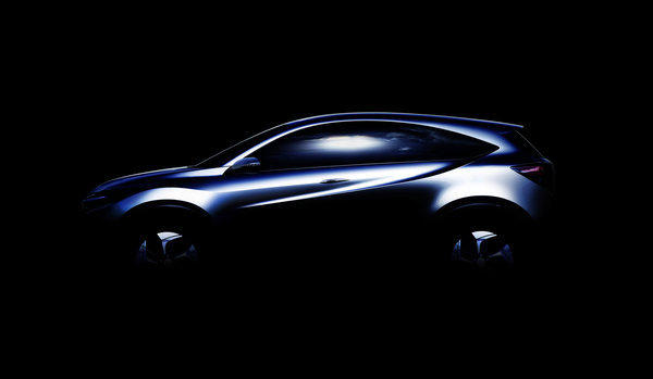 Honda will show off this small crossover prototype at the Detroit auto show in January.