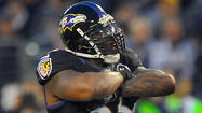 Terrell Suggs said Wednesday that he would be a game-time decision for the Ravens for Sunday's game against the Washington Redskins. The outside linebacker took a step in the right direction Thursday, returning to the practice field just four days after he tore his right biceps.