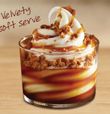 Burger King Gingerbread Cookie Sundae <br/><br/> Calories: 350