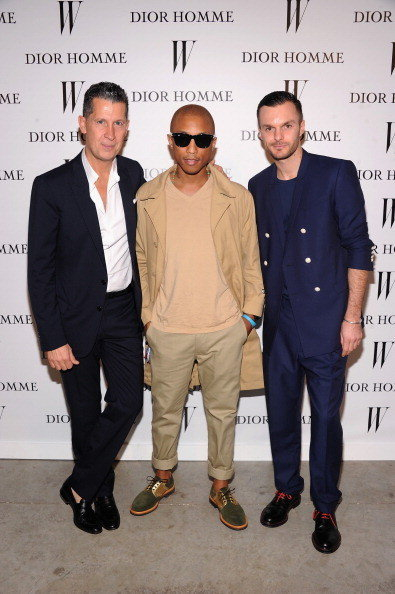 Celeb-spotting around South Florida - Stefano Tonchi, Pharrell Williams, and Dior Homme Creative Director Kris Van Assche