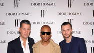 Stefano Tonchi, Pharrell Williams, and Dior Homme Creative Director Kris Van Assche