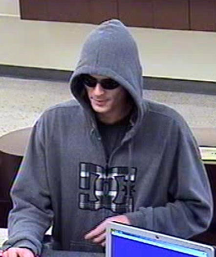 Suspect in a bank robbery at Bank of America in Corona del Mar on Thursday.
