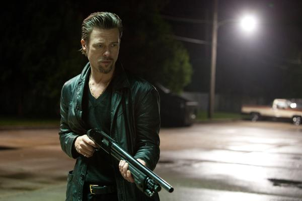 "Brad Pitt as Jackie Cogan in ""Killing Them Softly."""