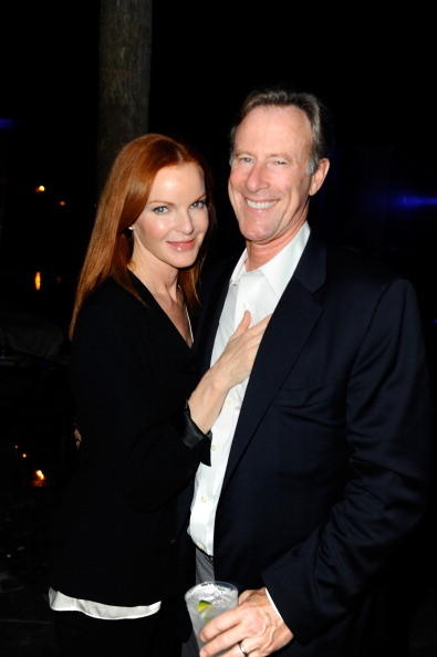 Actress Marcia Cross (L) and husband Tom Mahoney attend The Hole Gallery concert sponsored by Playboy and hosted by Delano at Delano Hotel on December 5, 2012 in Miami, Florida.