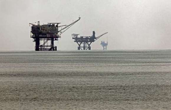 Oil rigs in federal waters in the Gulf of Mexico