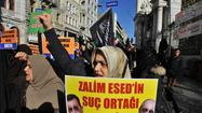 Turks protest Russian support for Syria's Assad