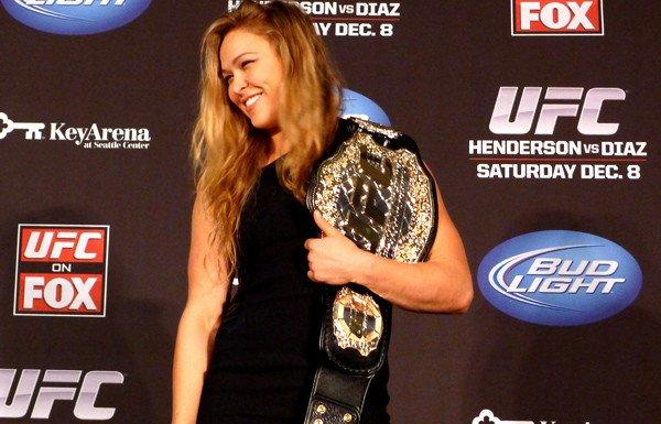 Ronda Rousey was installed as the first UFC women's champion.