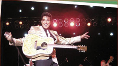 Scot Bruce performs as a young Elvis.