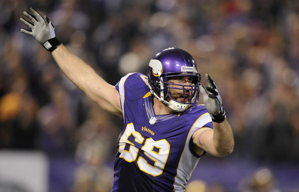 Vikings defensive lineman Jared Allen figures to have a major impact against the Bears.