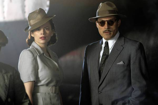 "Hayley Atwell and Rufus Sewell in the Sundance Channel original miniseries ""Restless."""