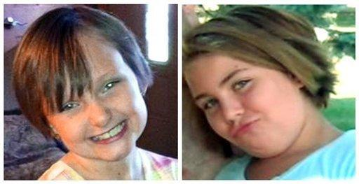 Iowa cousins Elizabeth Collins, 8, left, and Lyric Cook, 10, vanished in July while riding their bikes.