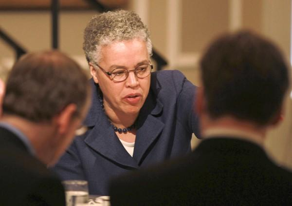 "In a speech Thursday, Cook County Board President Toni Preckwinkle said, ""Clearly this mayor and this police chief have decided the way in which they are going to deal with the terrible violence that faces our community is just arrest everybody."""