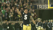 "<span style=""font-size: small;"">He's an official record breaker: Notre Dame linebacker Manti Te'o has won more national awards in a single season than any college football player in history.</span>"