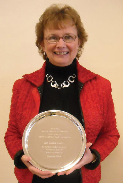 Ann Wagner, a partner at Ludwigs Jewelers in Chambersburg, was named the 2012 Business Person of the Year by the Greater Chambersburg Chamber of Commerce at the chamber's annual business breakfast on Thursday.