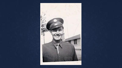 Pfc. John Barnick while in the service.