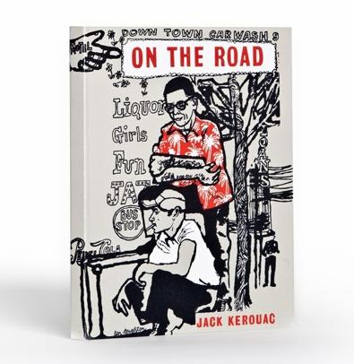 "Many people say it's easy to pack lots of books for vacation if they bring an e-reader. This e-reader cover is of the British edition of Jack Kerouac's ""On the Road."" (<a href=""http://shop.outofprintclothing.com/On_the_Road_eBook_jacket_p/r-1006.htm"">$45</a>)"