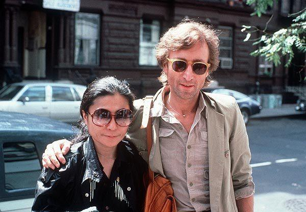 John Lennon and Yoko Ono in Manhattan in 1980.