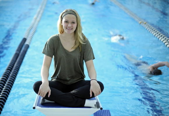 Glenbrook South's Olivia Smoliga just missed qualifying for the Olympic Games in London, but set two national records last month at the girls state swimming meet.