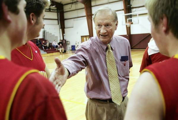 Moravian Academy's John Donmoyer is District 11's all-time leader in boys basketball coaching victories. Donmoyer enters his 39th season (16th season with the Lions) with 601 wins.