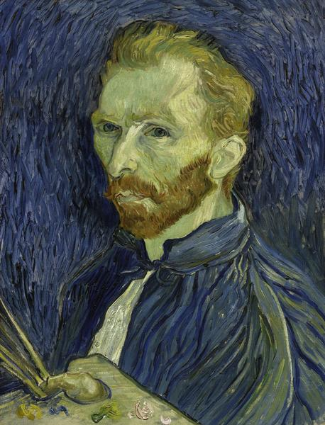 Vincent van Gogh (Dutch, 1853-1890, Self-Portrait, 1889. Oil on canvas.
