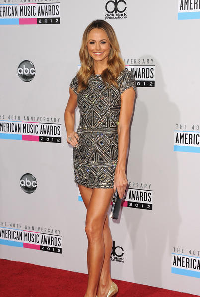 Stacy Keibler attends the 40th Annual American Music Awards on Nov. 18, 2012, in Los Angeles.
