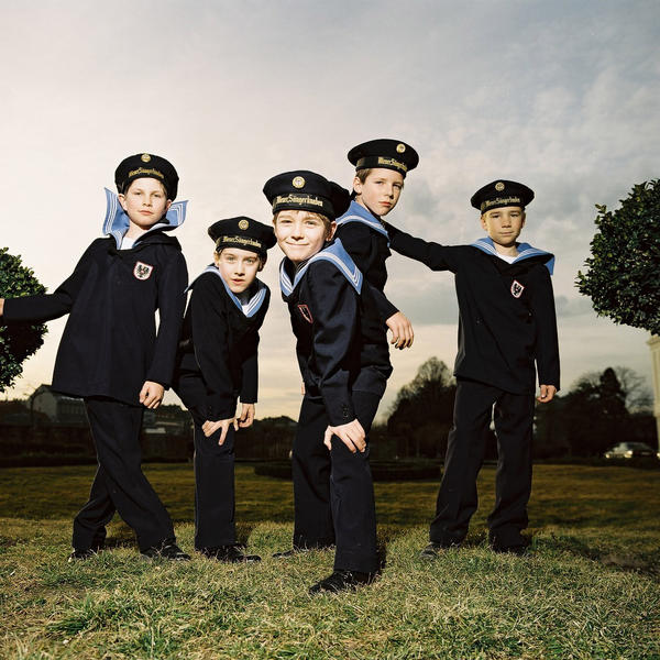 Members of the Vienna Boys Choir range in age from 9 to about 14 and sing soprano and alto. They will perform three different shows in the region this week. They perform in traditional Austrian boys' sailor suits.