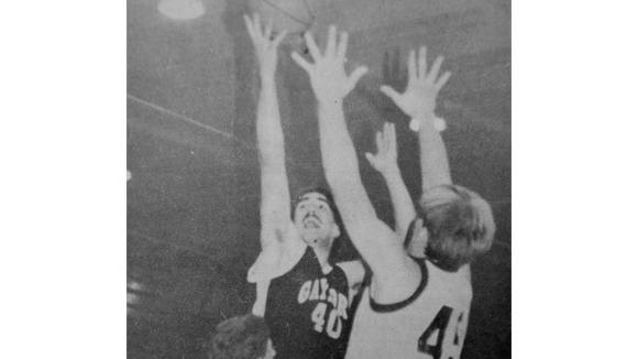 Rance  Charboneau (40) led the Blue Devils with 15 points on Dec. 5, 1989, to push Gaylord to a 68-65 overtime victory against Ogemaw Heights. This photo was taken Friday, Dec. 15, 1989 during a loss to Charlevoix.
