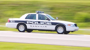 Danville police cruiser involved in crash