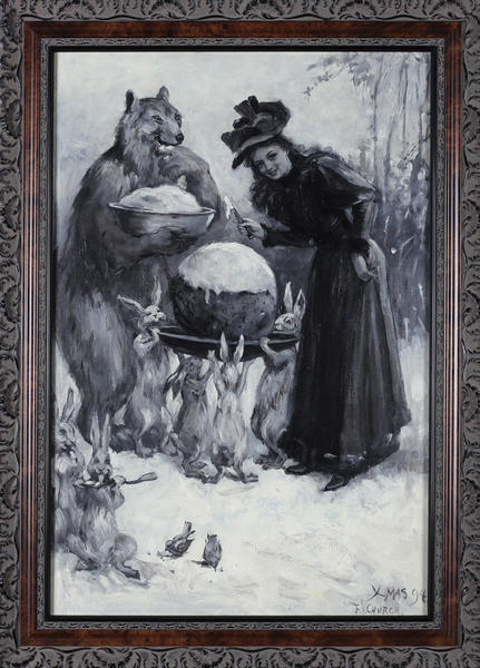 Frederick Stuart Church (1842-1924), Cold Sauce with Christmas Pudding, 1894, oil on canvas is part of the collection of the Washington County Museum of Fine Arts.
