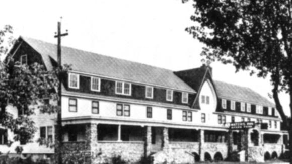 The Henry Stephens' barn, after extensive renovation, was used as a club, complete with a large dance hall.