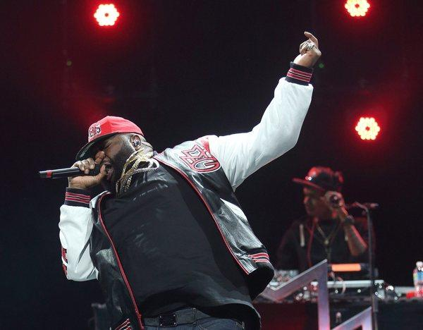 Rapper William Leonard Roberts, a.k.a. Rick Ross, performs at Bankers Life Fieldhouse in Indianapolis in November.