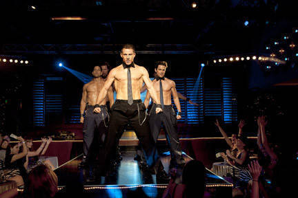 "The year's best bait and switch, the richly entertaining ""Magic Mike"" arrived with ads suggesting ridiculous fluff and delivered, surely to the disappointment of some, a sobering look at how it feels to consider turning a deliberately month-to-month gig into a career. It's easily Channing Tatum's best work, and director Steven Soderbergh provides just the right relaxed, observant eye, underscoring every moment of temporary fantasy with the reality that kicks in when the lights go up.<br><br><a target=""_blank"" href=""http://www.redeyechicago.com/entertainment/movies/redeye-movie-review-magic-mike-20120625,0,1294633.column""><b>Click here for our full review</b></a>"