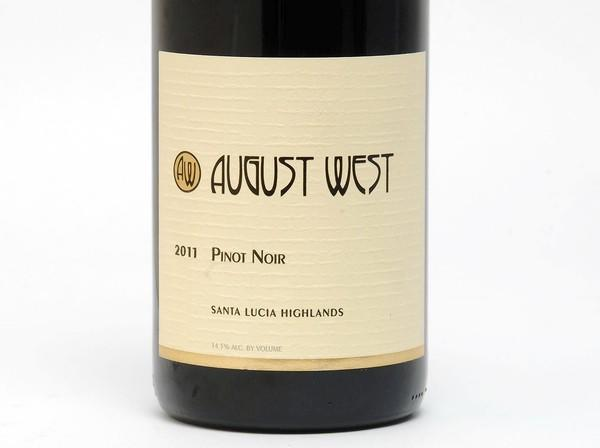 2011 August West Pinot Noir Santa Lucia Highlands: Wine of the Week
