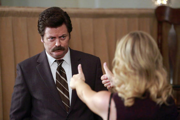 Ron Swanson thumbs up