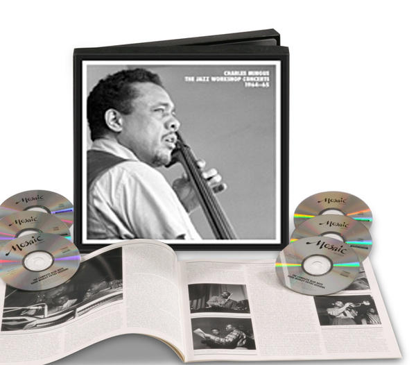 "Over time, the world slowly but surely is recognizing the genius and enormous output of bassist-composer-bandleader Mingus, and ""The Jazz Workshop Concerts"" should go a long way toward advancing that recognition. Its seven CDs include a great deal of music never released before, Mingus performing live alongside Eric Dolphy, Jaki Byard, Charles McPherson and Clifford Jordan, among other major figures. Throughout, the man's virtuosity on bass is matched by his audacity as composer-visionary. Available at mosaicrecords.com."