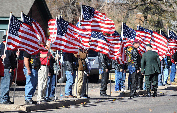 Two weeks ago, the streets of Midland were lined with flags during the funeral services for Army Sgt. Joshua C. Michael, one of four veterans who died in the train collision.