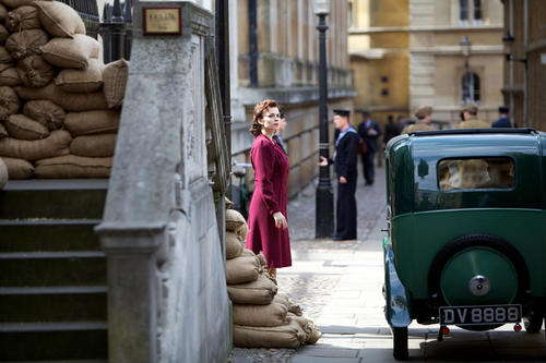 Hayley Atwell plays Eva Delectorskaya, a British spy in World War II.