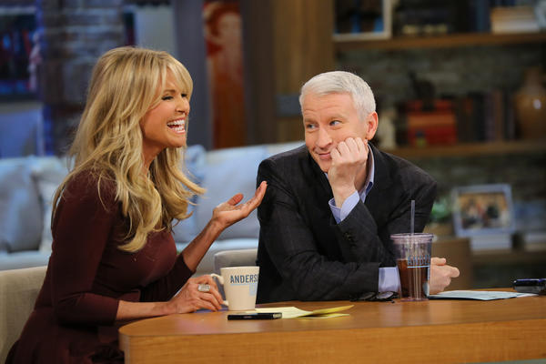 "<em>Above: Anderson Cooper with Christie Brinkley.</em><br><br>  TV journalist Anderson Cooper revealed Tuesday that a work trip had left him blind for almost two days.  ""Temporarily blinded last week while on assignment,"" the anchor shared on Instagram. ""UV light bouncing off water. Much better now.""   Cooper was shooting a segment on the coast of Portugal when apparently glare did some damage.  ""I wake up in the middle of the night and it feels like my eyes are on fire,"" he said on ""Anderson Live,"" via People.  <br><br> <strong>Full story:</strong> <a href=""http://www.latimes.com/entertainment/gossip/la-et-mg-anderson-cooper-blind-sunburn-eyes,0,1055849.story"">Anderson Cooper temporarily blind after a gig in Portugal</a>"