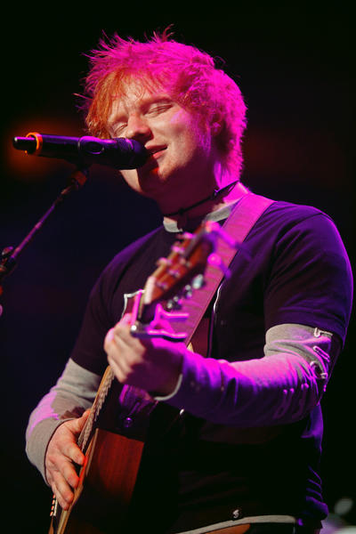Ed Sheeran performs at Q102's Jingle Ball 2012 presented by XFINITY at the Wells Fargo Center in Philadelphia on December 4.