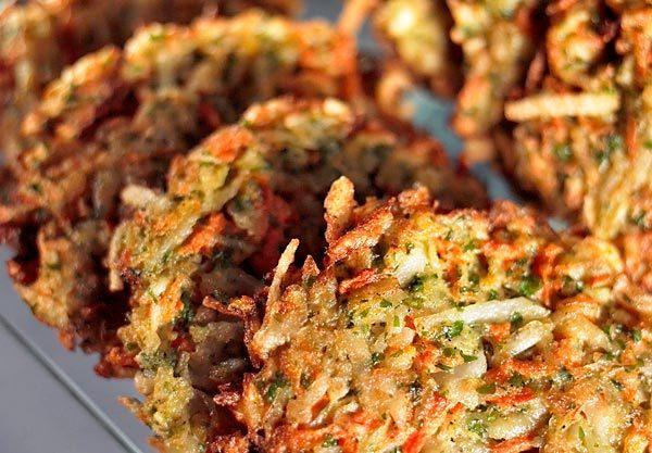 Winter sunshine latkes.