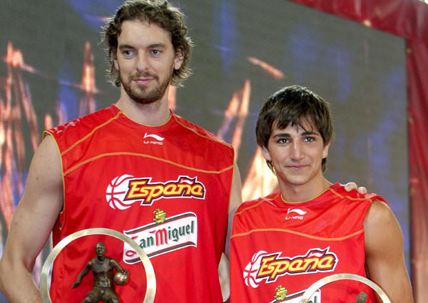 Lakers power forward Pau Gasol, left, and Timberwolves point guard Ricky Rubio have collected plenty of trophies while playing for Spain's national team.