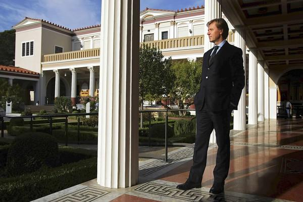 Timothy Potts, director of the Getty Museum, takes in the view at the Getty Villa in Malibu.