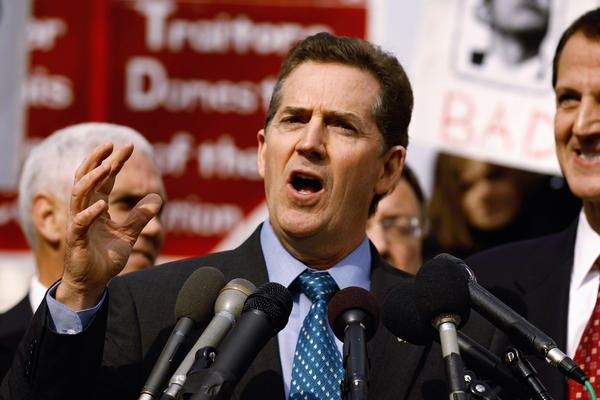 Sen. Jim DeMint of South Carolina, shown addressing a rally organized by Americans for Progress in November 2010, has announced he is leaving Congress in January to lead the Heritage Foundation.