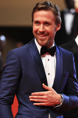 "Style-watchers got wind of the possibilities in 2011 when actor Ryan Gosling, justly celebrated for his red-carpet acumen, gave a one-two punch to tradition by appearing at Cannes in a sky-blue tuxedo for the premiere of ""Drive"" and a deep maroon counterpart two nights later (both by Salvatore Ferragamo)."