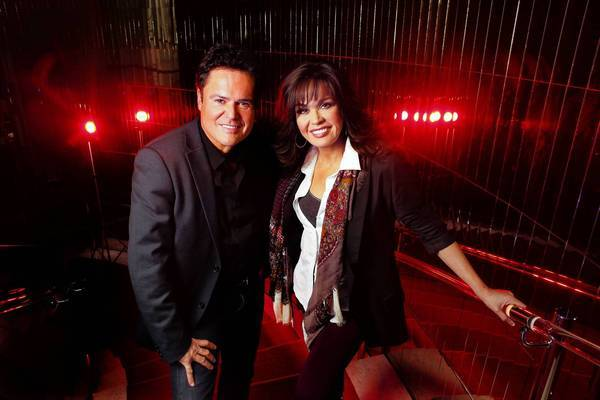 Donny and Marie Osmond are performing a holiday show in Los Angeles.