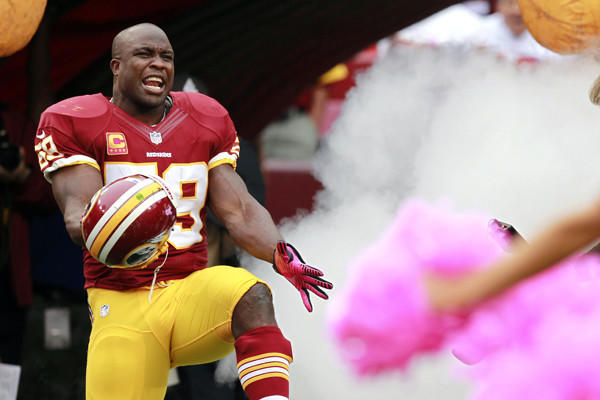Though he gets far less attention, Redskins middle linebacker London Fletcher is a veteran leader much like the Ravens' Ray Lewis.