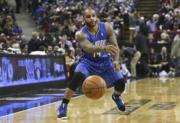 Orlando Magic point guard Jameer Nelson (14) passes the ball against the Sacramento Kings during the first quarter at Sleep Train Arena.