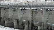 Oahe Dam spillway dry for now